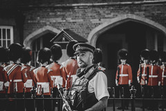 guarded (kderricotte) Tags: europe guard royal queen buckinghampalace changingoftheguard londonengland selectivecoloring sonya6000