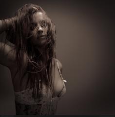 Floryane (bcud14) Tags: portrait woman dark studio square lingerie lowkey