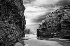 Un instante de eternidad (Govall) Tags: sea bw mar cliffs lugo catedrales ribadeo acantilados