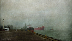 pessimists (silviaON) Tags: denmark harbor ship outdoor textured flypaper kerstinfrankart