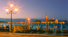 San Giorgio Maggiore - Venice - Italy (~ Floydian ~ ) Tags: city longexposure morning venice italy water sunrise canon photography dawn town twilight gondola venetian bluehour piazza venezia sanmarco stmarkssquare waterscape sangiorgiomaggiore gondole veneto campanille venetianlagoon floydian canoneos1dsmarkiii henkmeijer