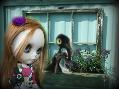 Pippa and the crow...