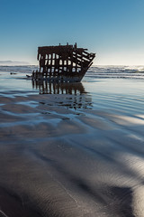 2016-01-10 - Peter Iredale Shipwreck-29 (www.bazpics.com) Tags: ocean sea usa beach water oregon america skeleton sand ship pacific or wave peter shipwreck frame hull wreck iredale