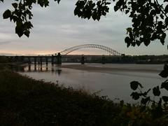 Trans Pennine Trail - Runcorn Bridge (VOLRANGER398) Tags: bridge water mersey runcorn widnes transpenninetrail