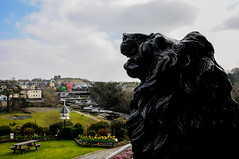 The Falls Hotel in Ennistymon (Hobo with a Nikon!) Tags: black statue march waterfall spring clare lion lionstatue stpatricksday countyclare ennistymon thefallshotel