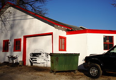 Half Filled In (jpmatth) Tags: color architecture digital canon painting eos lenstagged illinois garage unfinished mk2 5d mechanic stonington 2016 prairieland ef35mm20