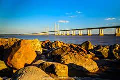 Severn Bridge Sunset (G.B.Photography) Tags: bridge blue sunset sky water beauty stone southwales wales landscape bride nikon colorful walk severn waterscape landscapeseascape sescape grazynaphotography