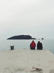 Chill (nina.ra) Tags: blue sea boys seaside chill montenegro budva