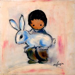 Happy Easter from all of us at the Gallery in the Sun! (DeGrazia Gallery in the Sun) Tags: arizona ted bunny architecture painting easter artist gallery desert artgallery tucson az adobe degrazia catalinas ettore nationalhistoricdistrict galleryinthesun