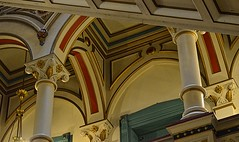 Colorful Arches (pjpink) Tags: city urban virginia spring downtown interior painted arches richmond april ornate rva oldcityhall gothicrevival 2016 pjpink