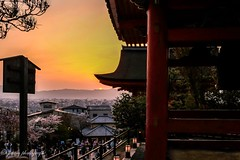 Sunset at Kiyomizu-Dera (siswanto_p) Tags: sunset japan kyoto kiyomizudera