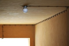 Tap into the light (Jani M) Tags: light abstract lamp yellow wire minimal line