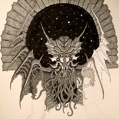 Cthulhu (fungus_homunculus) Tags: art monster pen ink drawing cthulhu horror creature hplovecraft rlyeh greatoldones