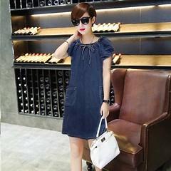 ชุดยีนส์สั้น คอโบว์น่ารักมากแฟชั่นเกาหลีแขนตุ๊กตาคอยืดหยุ่น Denim Dress ส่งออก สีน้ำเงิน - พร้อมส่งTJ7650 ราคา950บาท โทรสั่งของกับ พี่โน๊ต/พี่เจี๊ยบ : 083-1797221, 086-3320788 LINE User ID : @lotusnoss และ lotusnoss.com เข้าชมและสั่งซื้อสินค้าได้ที่ : htt