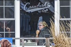Teatime at Crawford's Cafe (fotofrysk) Tags: woman ontario canada man window caf couple pair lakeontario greatlake porthope nikond7100 crawfordscaf 201603203389