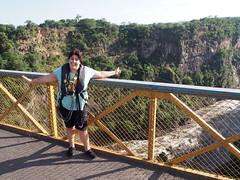Mirjam did it and survived!! (little_duckie) Tags: africa zimbabwe bungy bungee zambezi bungyjump zambeziriver 111metres