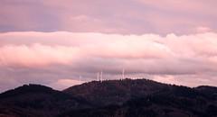 Freiburg in the setting sun IV (tillwe) Tags: pink sunset sky clouds landscape freiburg blackforest tillwe roskopf 201603