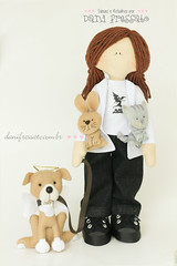 Boneca Personalizada (Dani_Fressato) Tags: handmade artesanato craft felt feltro boneca trabalhomanual ideiaseretalhos danifressato