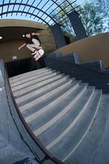Davis Clay heelflip (memoryhousemag) Tags: arizona skateboarding fisheye stairset memoryhousemag