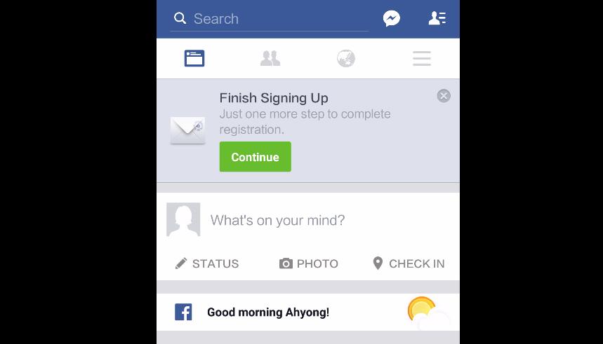 របៀបបង្កើតគណនី Facebook តាមទូរស័ព្ទ ជាមួយនឹងកម្មវិធី Facebook ផ្ទាល់តែម្តង