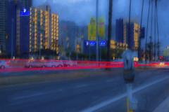 City lights abstract (Karon Elliott Edleson) Tags: city nightphotography abstract blur speed photography lights downtown neon nightlights traffic sandiego dusk processing topaz harbordrive