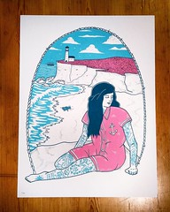 """By the Sea"", beautiful print by talented illustrator Alex T Frazer! #art #print #illustration #sea #scrimshaw #tattoo #maritime #sailor (richard goodall gallery) Tags: sea art alex beautiful tattoo by illustration print t maritime illustrator sailor frazer talented bythesea scrimshaw"