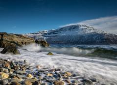 Bølger (Trond-Arvid) Tags: mountain seaweed waves stones shoreline fjord mussels tang snø fjære bølger rypen astafjorden skogslandet
