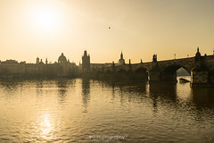 . (bgfotologue) Tags: sun tower church silhouette sunrise landscape photography daylight photo europe day czech prague image praha czechrepublic imaging charlesbridge  vltava  bohemians   centraleurope 2016       bgphoto  esko  eskrepublika 500px  tumblr  bellphoto    500px