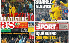 Le reazioni della stampa Spagnola al 2-1 tra Barcellona e Atletico Madrid. Giusta l'espu (championsleague) Tags: barcellona atletico champions torres