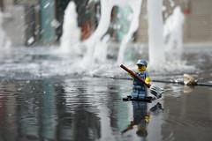 Lego Janitor on an impossible job (CrookedBricks) Tags: lego minifigs
