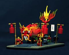 Dragon Dance (Pate-keetongu) Tags: dragon lego chinesenewyear bionicle moc gyarados