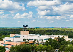 Mickey Water Tower (floridaplunge) Tags: orlando epcot nikon florida bluesky disney disneyworld themepark magickingdom animalkingdom towerofterror darkride hollywoodstudios mickeywatertower d3100 floridaplunge