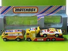 Matchbox Team Pepsi (streamer020nl) Tags: chevrolet yellow metal toys team cola 14 models racing chevy 1984 pepsi van gt macau amx challenger matchbox transporter kenworth diecast jouets superfast cabover spielwaren prostocker