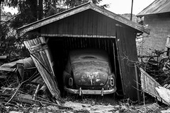 Seen better days (MrLockertsen) Tags: bw cars volvo decay pv desatured