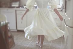i hope you dance (Novel Photographie) Tags: kitchen dance dress twirl