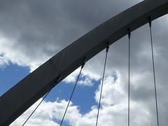 Hulme Arch Bridge (stillunusual) Tags: street city uk bridge england sky urban cloud landscape manchester cityscape streetphotography hulme urbanlandscape mcr urbanscenery 2016 stretfordroad hulmearchbridge manchesterstreetphotography