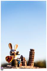 pizzero-in-roma (Juan Carlos Caadilla) Tags: portrait roma rabbit toy conejo pizza figures juguete costumers aproximacin