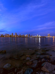 International Space Station Above San Diego,CA (It was the light, it was the angle) Tags: ocean california above city longexposure night island downtown pacific sandiego pano pacificocean coronado iss internationalspacestation 41916 jeffmorris itwasthelight spotthestation