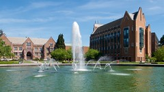 Guggenheim, Drumheller Fountain, Electrical Engineering (Frank Fujimoto) Tags: seattle uw water fountain architecture wa