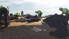 Storm Damaged Roof in Channahon, IL. Certaseal Construction repaired and Installed a new beutiful roof (Certaseal Construction) Tags: roof storm home hail shingles il repair installation damage atlas insurance roofing claim roofinginstalltionchannahon