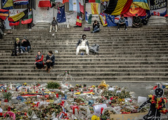 solitude (Patrice Dx) Tags: fleurs solitude bruxelles bourse escalier mmorial