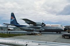 C-FPWR  L-382E (C-130E)  Pacific Western (caz.caswell) Tags: westsussex cargo freight hercules airliner gatwick turboprop c130 pigglywiggly pacificwestern lgw gatwickairport pwa londongatwick jetprop londongatwickairport l382 cfpwr 4xallisons