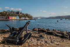 Glimpse of Tobermory (gillyd.d) Tags: sea sky colour clouds scotland view anchor astoria isleofmull tobermory