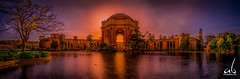 Palace of Fine Arts || San Francisco (anoopbrar) Tags: sanfrancisco california light sunset sky usa color building tree art water beautiful architecture sunrise buildings reflections amazing san francisco colours shadows unitedstates artistic fine beautifullight palace orangesky sanfran palaceoffinearts architecure sunflare finearts fierysunset cloudsstormssunsetssunrises
