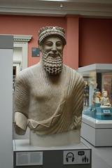 bearded Idalion man, Cyprus (Mr. Russell) Tags: england london beard cyprus britishmuseum idalion