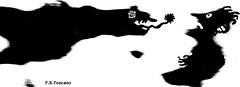 Ataque terrorífico. Terrifying attack. (Esetoscano) Tags: bw art byn arte drawing humor cartoon attack manipulation bn dibujo viñeta impression ataque terrifying manipulación impresión drawingfrompicture terrorífico dibujoapartirdefotografía