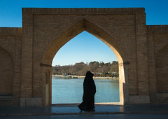 women passing in front of a bridge arch, Isfahan Province, isfahan, Iran (Eric Lafforgue) Tags: city travel bridge people urban reflection building tourism water horizontal architecture buildings river outdoors photography persian women asia arch iran fulllength middleeast bridges engineering persia landmark architectural womenonly civil iranian esfahan 2people twopeople isfahan middleeastern chador ispahan إيران иран イラン irão isfahanprovince 伊朗 unrecognizableperson colourpicture 이란 hispahan irandsc08656