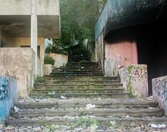 Secrets (BradPerkins) Tags: stairs neglected abandoned building urbex colors graffiti urbanlandscape empty urbanexploration dominicanrepublic