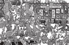Octopedestrians (Don Moyer) Tags: drawing octopus moyer brushpen kickstarter letterpree donmoyer