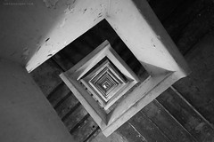 Down the Rabbit Hole (rh89) Tags: bw hk white abstract black geometric monochrome architecture stairs square point hongkong mono stair geometry shapes hong kong staircase shape vanishing